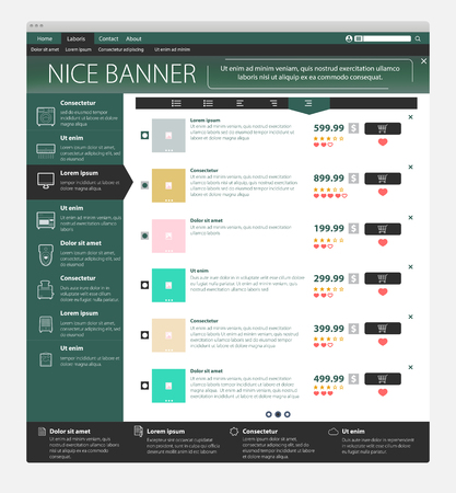 dashboard: web page template Illustration