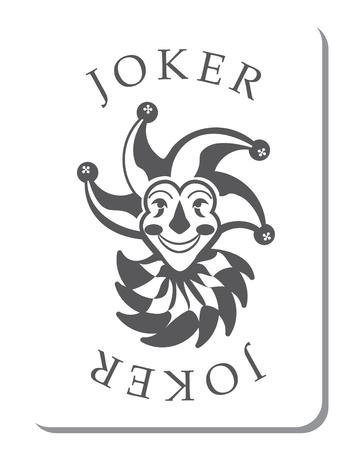 카드 놀이의 갑판에서 조커와 카드 놀이