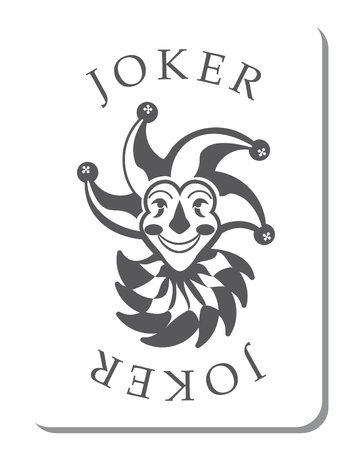 joker: Playing cards with the Joker from a deck of playing cards