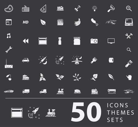 peripherals: A large set of unique icons for design and modern technology of various themes