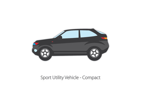 crossover: Vector illustration of types of cars. Variants of car body.