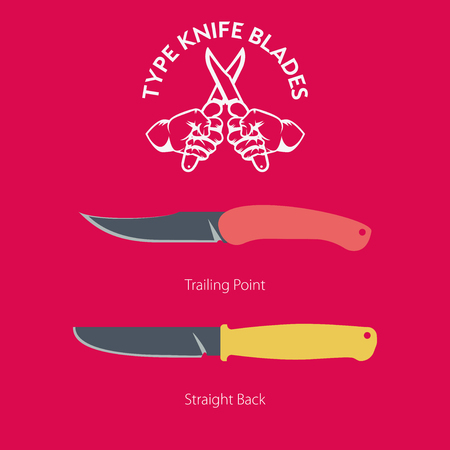 A simple illustration of hand folding knife for everyday carrying Ilustracja