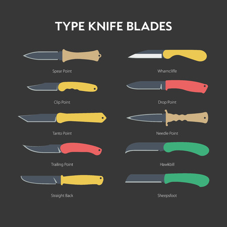 fiambres: A simple illustration of hand folding knife for everyday carrying Vectores