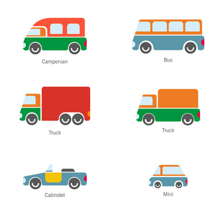 The design of cars of different types of body painting for various catalogs of urban traffic and presentations. Ilustração