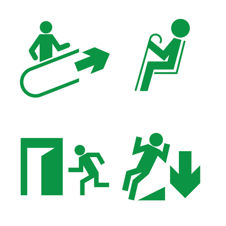 Signs of evacuation and explanatory signs in public places