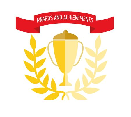 Medal and the rewards for achievements or completed assignments Ilustrace