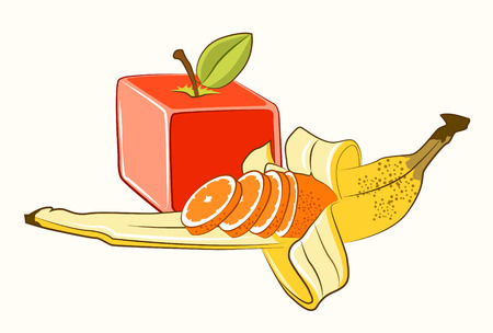 Transgenic manipulated fruits with biotechnology Stock Photo