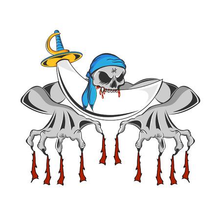 clawing: Pirate artigliare zombie scheletro e sorridendo