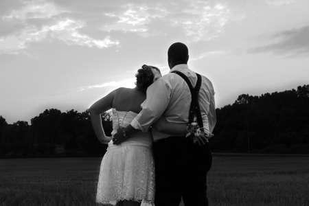fondo blanco y negro: Sunset Wedding Negro Blanco