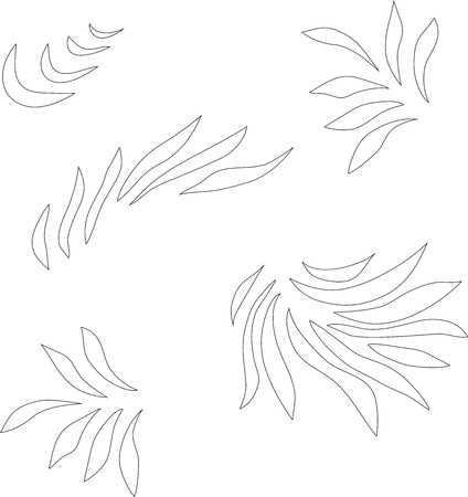 grass close up: Drawn abstract pattern, wavy background. like petals, leaves grass, flame. It can be used as a seamless pattern for wallpaper, pattern, web page background, surface textures. Gorgeous seamless