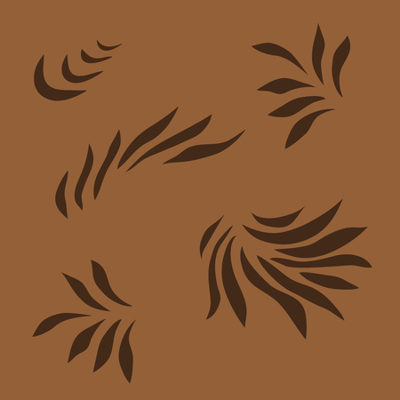 grass close up: Painted brown abstract pattern, wavy background. like petals, leaves, grass, flame. It can be used as an ornament or seamless pattern for wallpaper, pattern, web page background, surface textures. Gorgeous seamless Illustration