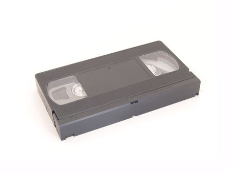black VHS tape isolated on white background