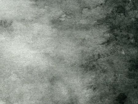 black and gray abstract watercolor background on white paper
