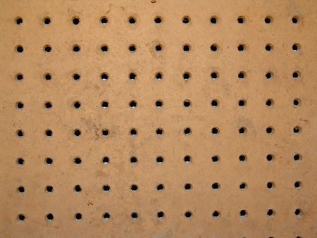 peg board with holes for organizing tools in the workshop Stock Photo - 2711795