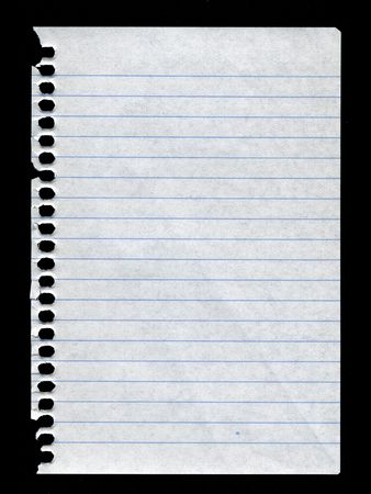 liniert Papier zerrissen Notebook