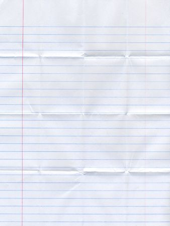 piece of paper folded multiple times Stock Photo