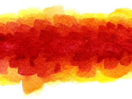 splotches of watercolor paint on white textured paper Stock Photo