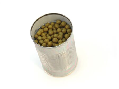 tin can with peas isolated over white background Stock Photo - 5163028