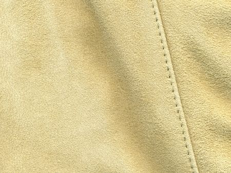 durable: scan of light tan suede with stitching