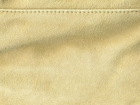 suede: scan of light tan suede with stitching