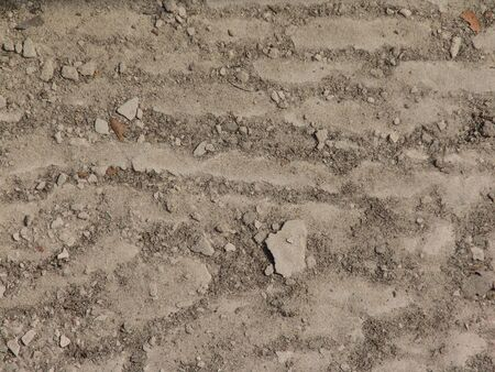 receded: pattern left in dirt after river receded from bank Stock Photo