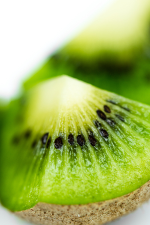 Close upmacro shot of kiwi friut