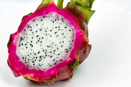 Sliced Dragon Fruit Close Up macro shot