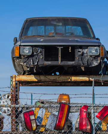 salvage yards: used cars taken apart and sold sold for parts what doesnt get sold goes to metal recycler.