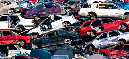 used cars at part out yard will be sold for used parts and then recycled for scrap metal.