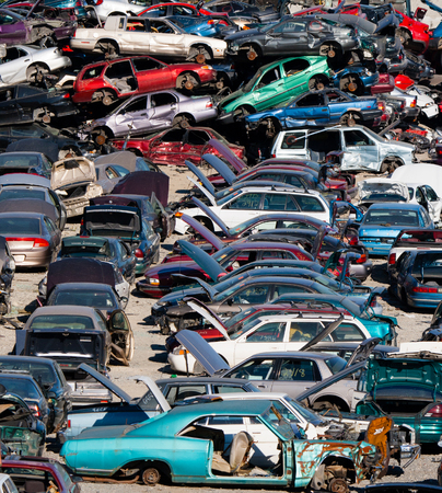 salvage yards: used cars at part out yard will be sold for used parts and then recycled for scrap metal.