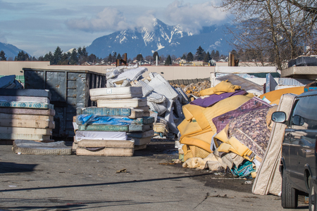 Mattress recycling facility .striving to recycle every bit of used mattresses to have a zero impact on environment.