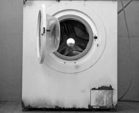 an old washing machine Stock Photo