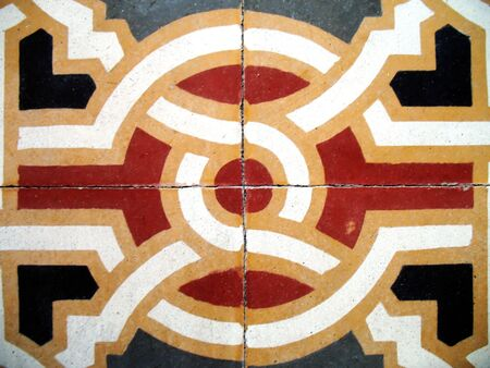 tiles of an ancient floor photo