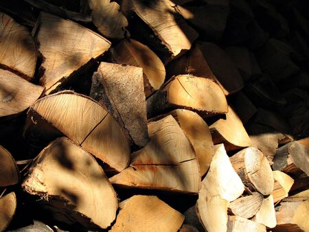 Woodpile for stoves photo