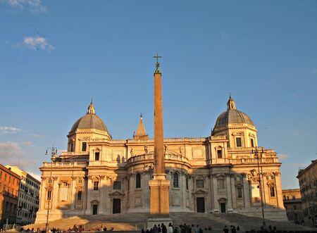 spqr: Bas�lica de Santa Maria Maggiore - Roma  Foto de archivo
