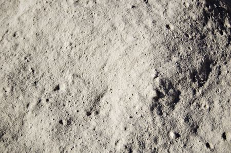 A dusty land seems to be the moon surface