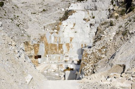 Quarry of white murble in Carrara, Tuscany, Italy photo