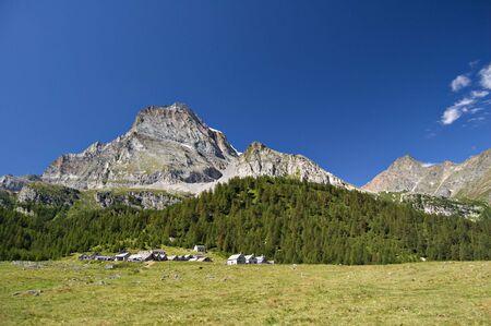 Alpe Veglia italian natural park and Monte Leone in background, Piemonte, Italy photo