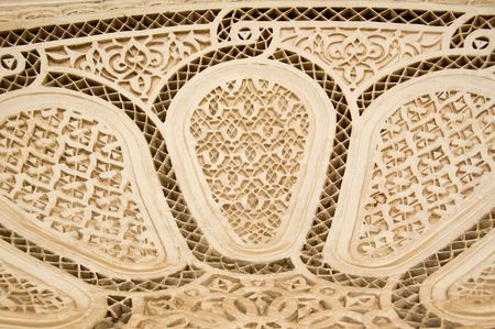 stucco: A detail of a Moorish style stucco in Marrakesh