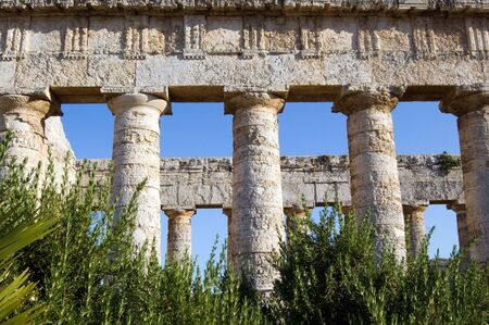 The Doric temple of Segesta, Sicily photo