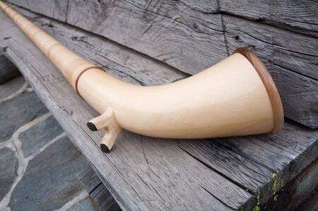 alphorn: An alphorn traditional alpine wind instrument