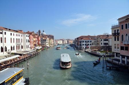 A view of the Canal Grande from Ponte di Calatrava - Venezia - Italy Editorial