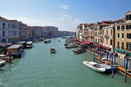 A view of the Canal Grande from Ponte di Rialto - Venezia - Italy Editorial