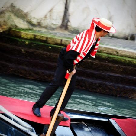 Gondoliere in action - Venezia - Italy