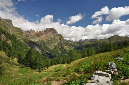 High Mountain landscape in the Alps, Alpe Devero, Italy