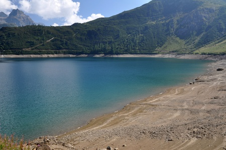 The hydroelectric basin of Morasco, Formazza, Italy