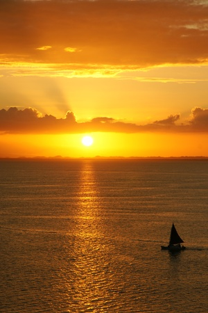 gulf of mexico: Sunset over the gulf of Mexico