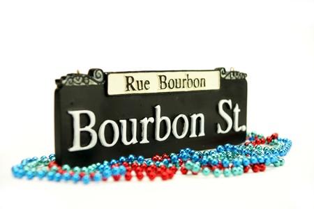 bourbon street: Bourbon Street Sign Stock Photo