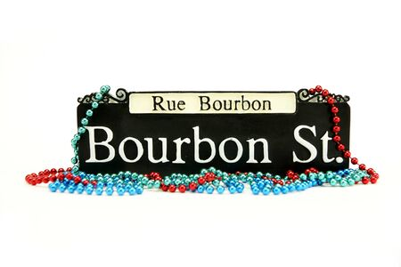 new orleans: Bourbon Street Sign Stock Photo