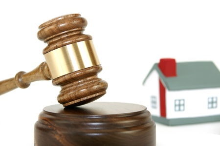 Gavel with house photo